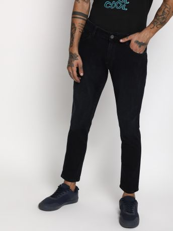 Simon - A Solid Slim Fit Grey Jeans
